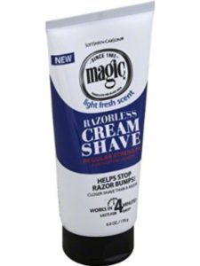 LOREAL/SOFTSHEEN/CARSON    carson magic razorless cream shaves