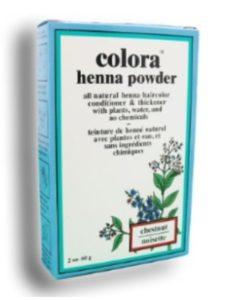 Colora chestnut henna hair color
