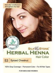 Silk & Stone chestnut henna hair color