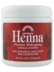Rainbow Research dye auburn  henna hairs