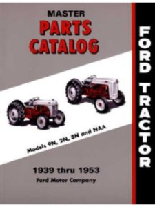 FORD TRACTOR exploded view  rear axles