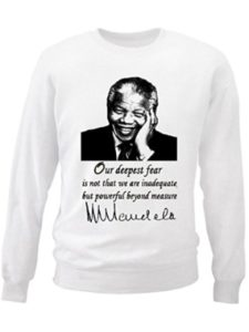 teesquare1st fear quote  nelson mandelas