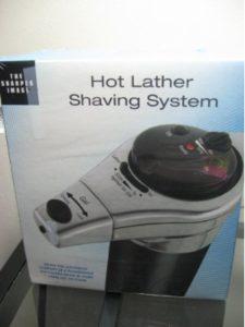 Sharper Image heater  shaving foams