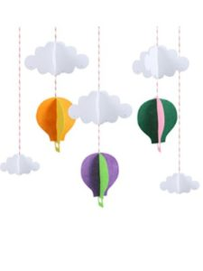 STOBOK hot air balloon pattern  tissue papers