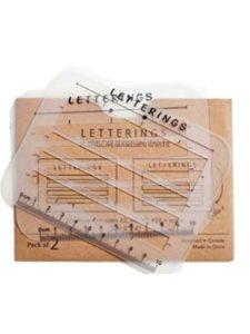 Letterings letter template  office words