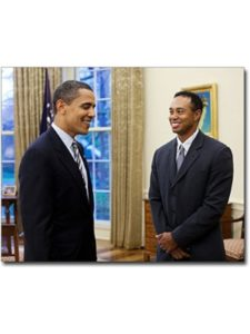 The McMahan Photo Archive obama  tiger woods