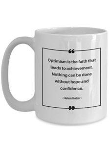 Gearbubble optimism quote  helen kellers