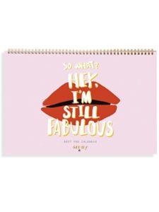 b_odd supplies pink  desk pad calendars