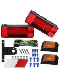 WoneNice snowmobile  trailer light kits
