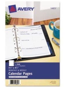 AVERY-DENNISON template  desk pad calendars