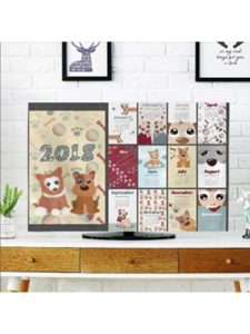 aolankaili template  desk pad calendars