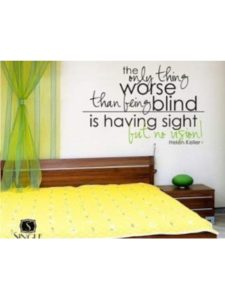 WALLDecals vision quote  helen kellers