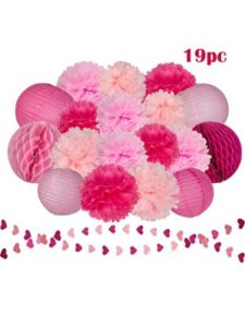 Dream Party BOUTIQUE wall art  tissue paper flowers