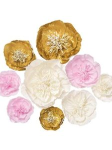 Ling's moment wall art  tissue paper flowers