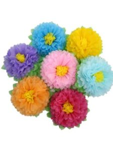 Yiwu Parmay Arts & Craft Co., Ltd wall art  tissue paper flowers