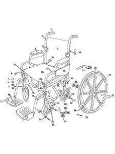 Drive Medical wheelchair  rear axles