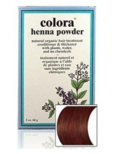 Nature's Brands dying  hair brown with hennas