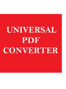 Universal  PDF Converter high quality  pdf converters