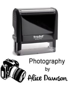 Pixie Perfect Stamps logo  wedding photographies