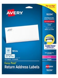 Avery Products Corporation mail merge  office words