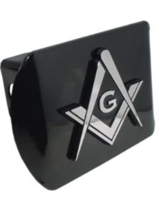 Chrome Emblem masonic  trailer hitch covers