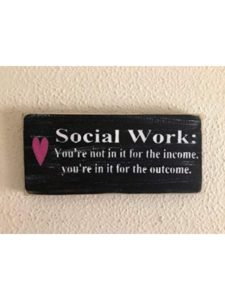 WoodenSign office decor  social works