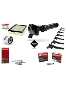 Aftermarket Ignition Coil, Motorcraft Spark Plug & Filters oil filter