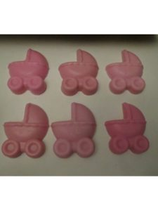 Joann exotic candles soap and more pink candle  baby carriages
