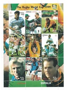 Stamps by Stampbank rugby world cup  nelson mandelas