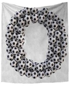 RuppertTextile soccer arrangement  ball flowers
