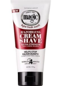 Soft Sheen Carson razorless cream shave