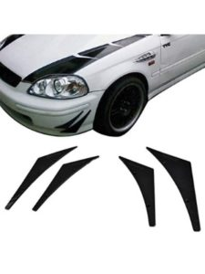 Paintable Flexible PU Universal front Bumper Fins 03 cobra  chin spoilers
