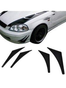 Paintable Flexible PU Universal front Bumper Fins 2003 cobra  chin spoilers