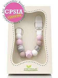 JEsentials LLC    baby bib with pacifier holders