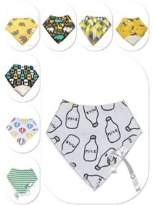 Le Mae    baby bib with pacifier holders