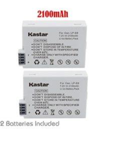 Kastar canon 700d  battery lives