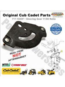 Haliniose cub cadet lt1045  steering gears