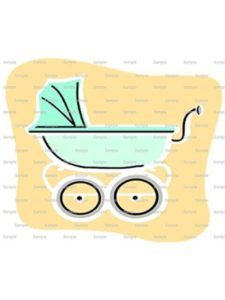 Decopac cupcake cake  baby strollers