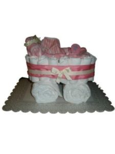 Sweet Baby Cakes n More diaper cake  baby carriages