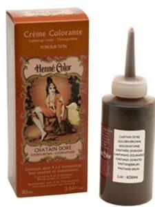 Beauty dye golden brown  henna hairs