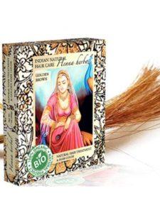 Indian Natural Hair Care dye golden brown  henna hairs