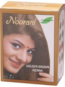 Monsoon Spice Company dye golden brown  henna hairs