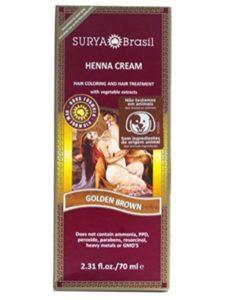 Surya Brasil dye golden brown  henna hairs