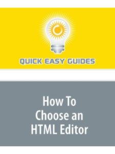 Quick Easy Guides easy  html editors