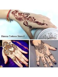 HAT15480 fake  henna tattoo kit