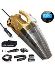4 in 1 Golden Digital Tire Pressure Preset Car Vacuum Cleaner function  vacuum meter cars