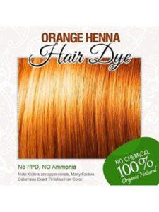 Allin hair dye orange