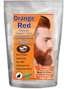 The Henna Guys hair dye orange