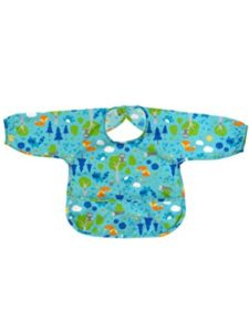 green sprouts    long sleeve baby bibs