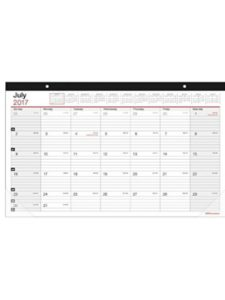 Office Depot desk pad calendar